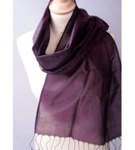 Soie Samatoa unie violet foncé
