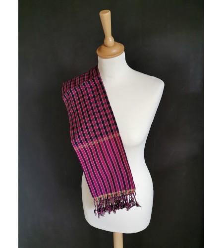 Krama pourpre et violet